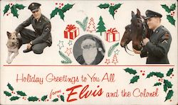 Holiday Greetings to you all from Elvis and the Colonel Postcard