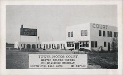 Tower Motor Court Postcard