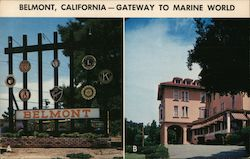 Belmont - Gateway to Marine World Postcard