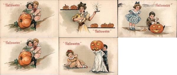 Lot of 5: HBG Halloween Children