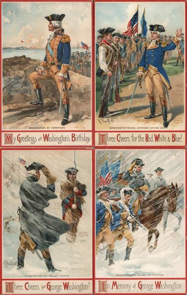 Lot of 4: George Washington 1776 Series 51766 Richard Veenfliet