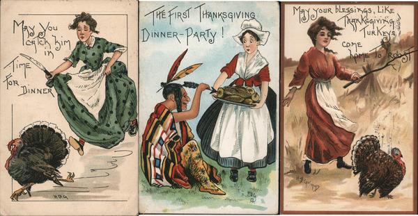 Set of 3: Women on Thanksgiving H. B. Griggs (HBG)