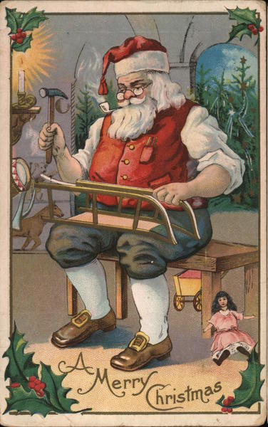Santa Making Toys - A Merry Christmas Santa Claus