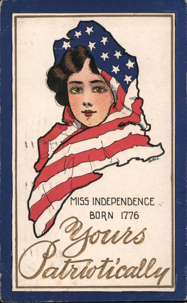 Miss Independence Born 1776 Wall 4th of July