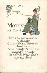 Mother: A Toast Postcard