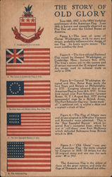 The Story of Old Glory Postcard