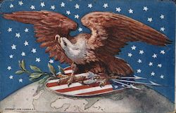 Eagle With American Shield Postcard