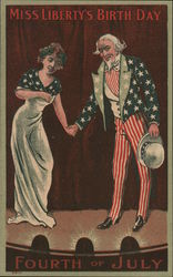 Miss Liberty's Birth Day, Uncle Sam Postcard