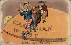 "Uncle Sam ""Spying Out the Land"": Canadian West Postcard"