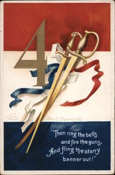 4 With Crossed Swords Postcard