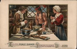 Indian Peace Dinner Thanksgiving Postcard