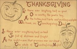 Thanksgiving Poem Postcard