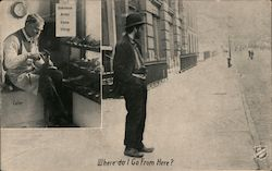Salvation Army Shoe Shop - Man with New Shoes Postcard