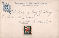 Daughters of the American Revolution Correspondence Card Postcard
