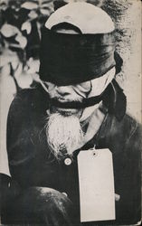 Typical Vietnamese Peasant - Trussed, Blindfolded, Gagged & Tagged Postcard
