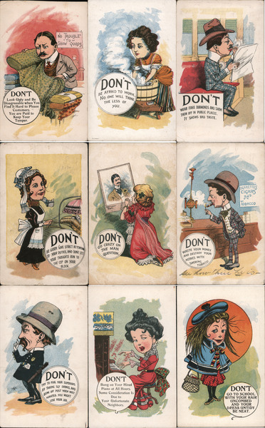 Set of 9: Don't Series Comic, Funny