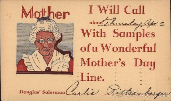 Mother's Day Correspondence Card for: Douglas' Salesman
