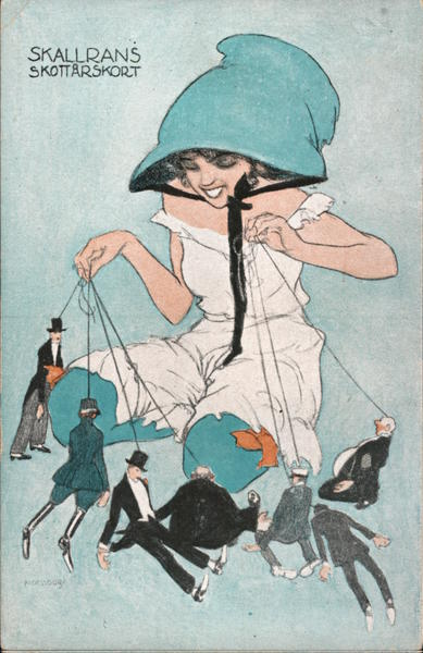 Skallrans Skottarskort - Woman With Men on Strings