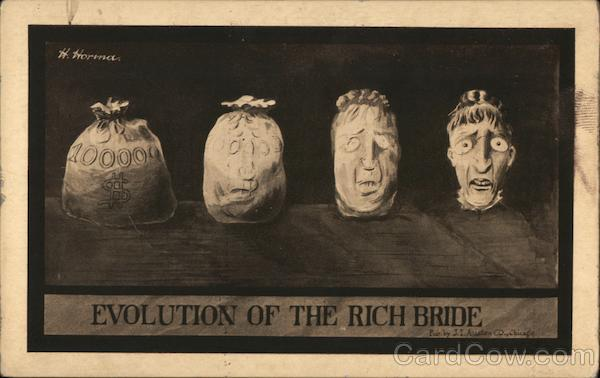 Evolution of the Rich Bride H. Horma Comic, Funny