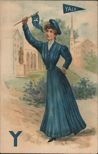 Yale woman in blue College Girls