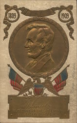 A. Lincoln In Memory of the Centinnial Anniversary of his Birth 1809 1901 Postcard