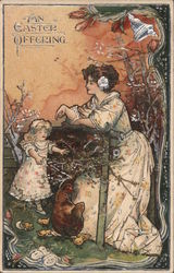 An Easter Offering - Child With Mom Postcard