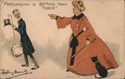 Persuasion is Better Than Force Postcard