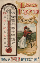 Love's Thermometer - Very Hot - How is Your Temperature Postcard