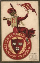 Harvard Woman Postcard