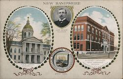 New Hampshire State House & Governor Postcard