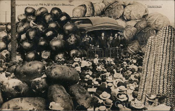 A Group of People Surrounded by Potatoes & Vegetables