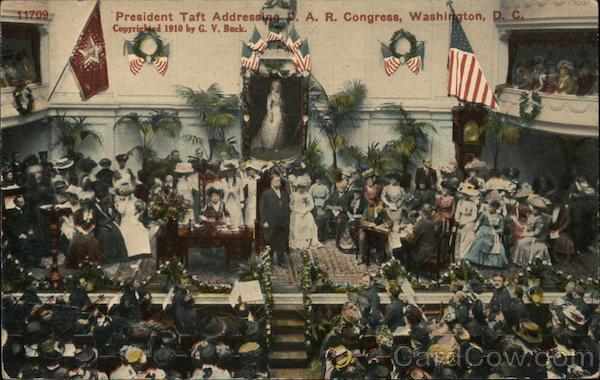 President Taft Addressing P.A.R. Congress Washington District of Columbia