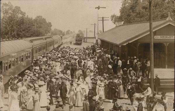 People at Train Station Gridley California