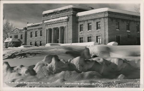 Winter in Susanville, County Court House California