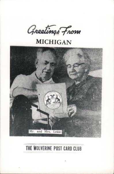 Greetings from Michigan - The Wolverine Post Card Club