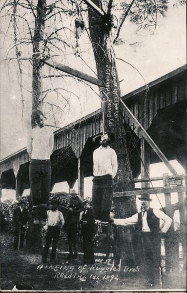 1892 Lynching of Ruggles Brothers Redding California