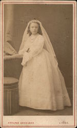 A Young Girl in a Communion Dress Original Photograph