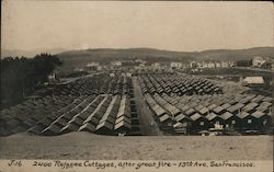 2400 Refugee Cottages after Great Fire - 13th Ave. J-16 Postcard