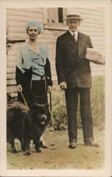 President and Mrs. Coolidge with Tiny Tim Postcard
