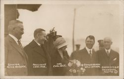 President Coolidge and Wife with Senator and Congressman Postcard