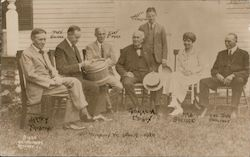 Group: Thomas Edison, Firestone, Coolidge, Ford Postcard