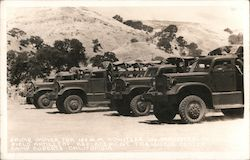 Camp Roberts Six Ton Truck, Prime Mover for 155 m.m. Howitzers Postcard