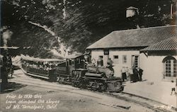 Prior to 1930 this Train Climbed the Slopes of Mt. Tamalpais Postcard