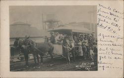 Rare: Smith's at Marysville Horse Drawn Streetcar Postcard