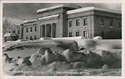 Winter in Susanville, County Court House Postcard