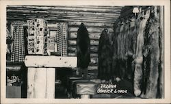 Souvenir Furs for Sale, Tazlina Glacier Lodge Postcard