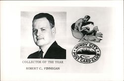 Robert C. Finnegan, Collector of the Year - Windy City Post Card Club Postcard