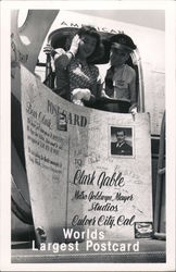 World's Largest Postcard To Clark Gable Postcard