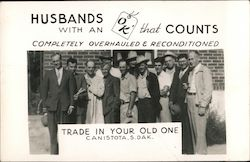 Husbands with an OK that Counts Postcard