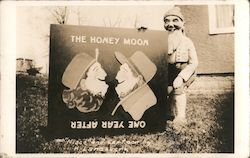 The Honey Moon - One Year After, Gnome Postcard